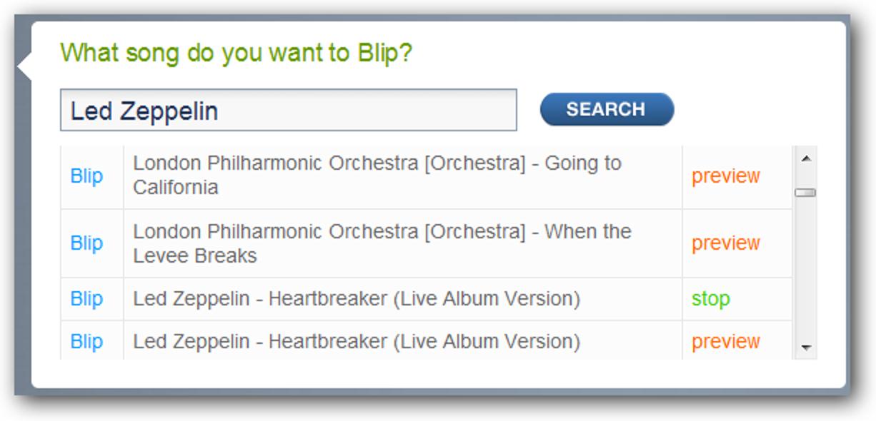Blip.fm ist eine unterhaltsame soziale Möglichkeit, Musik zu teilen