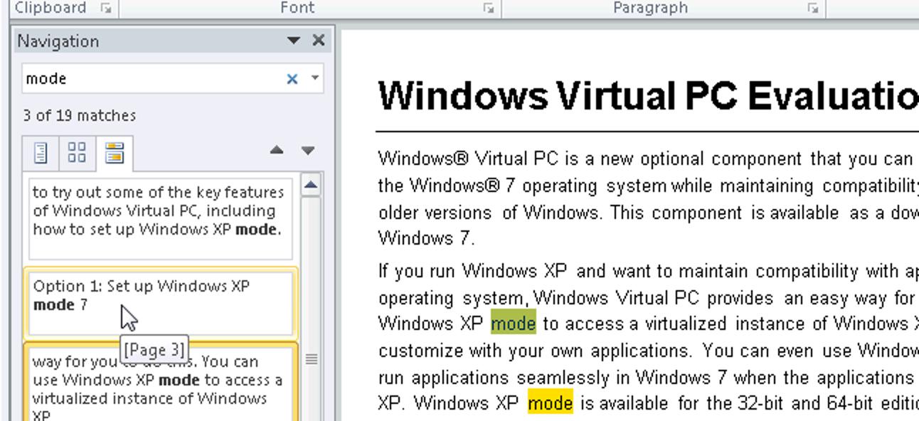 Erfahren Sie, wie Sie den Navigationsbereich in Microsoft Word verwenden