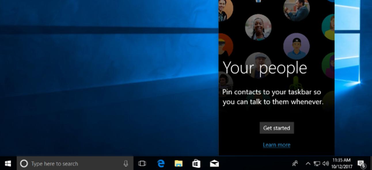 """Verwendung von """"Meine Leute"""" in der Windows 10-Taskleiste"""