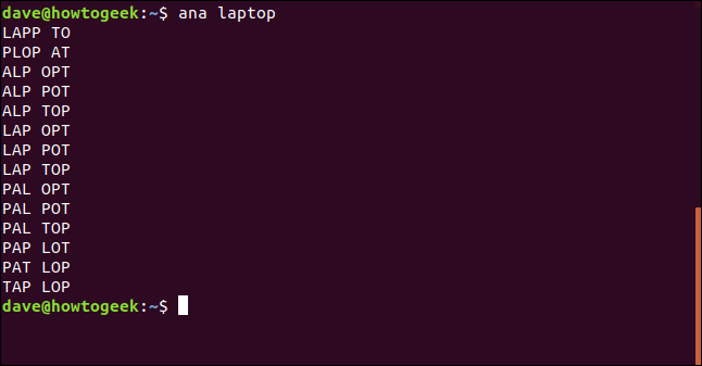 Test eines Dienstprogramms