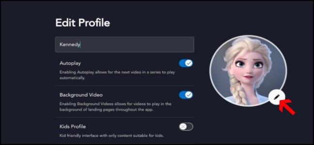 Disney + Profileinstellungen