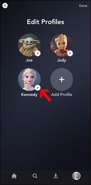Disney + Profile bearbeiten
