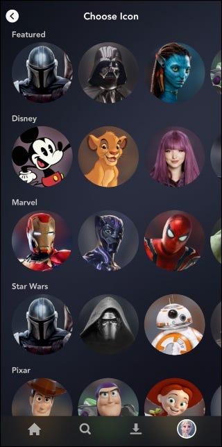 Disney + Bildbibliothek