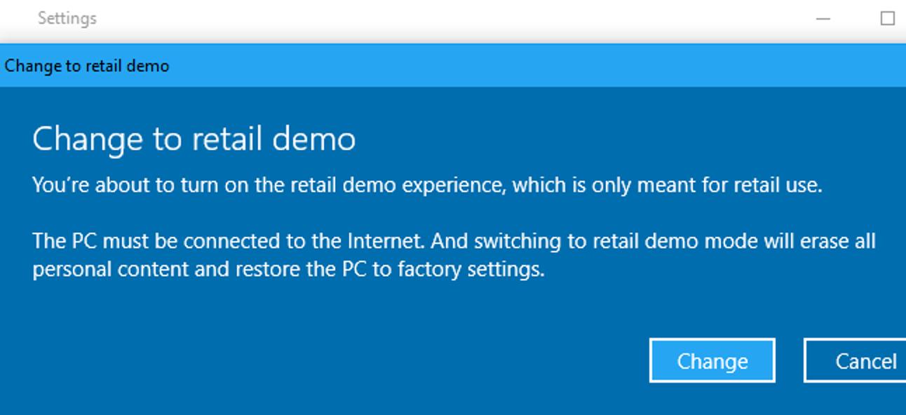 So aktivieren Sie den Hidden Retail Demo-Modus von Windows 10