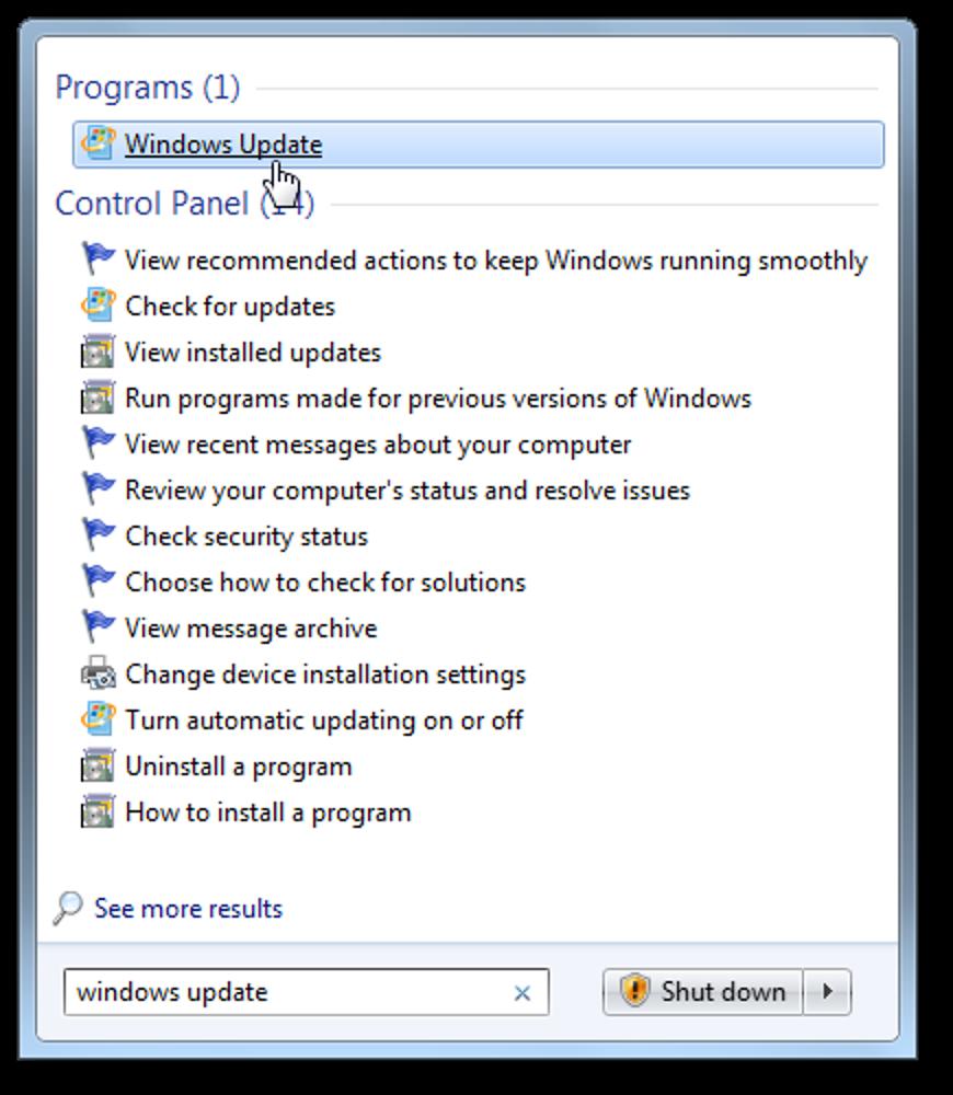 Windows 7-Update durchführen Suchen Sie nach Updates für mehr als nur das Betriebssystem