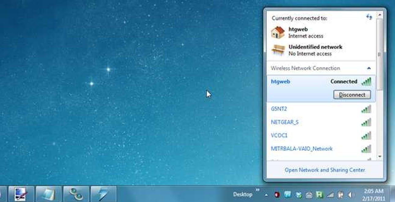 So aktivieren Sie benutzerspezifische drahtlose Netzwerke in Windows 7