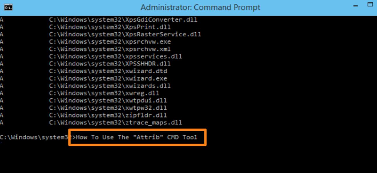 So ändern Sie Dateiattribute mit Attributen über die Windows-Eingabeaufforderung