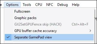CEMU Gamepad Ansicht