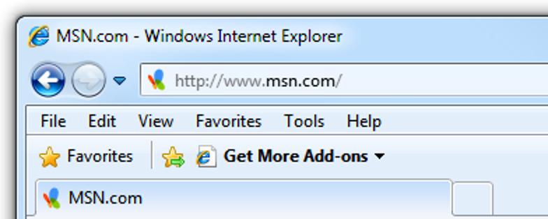 So passen Sie die Titelleiste von Internet Explorer 8 an