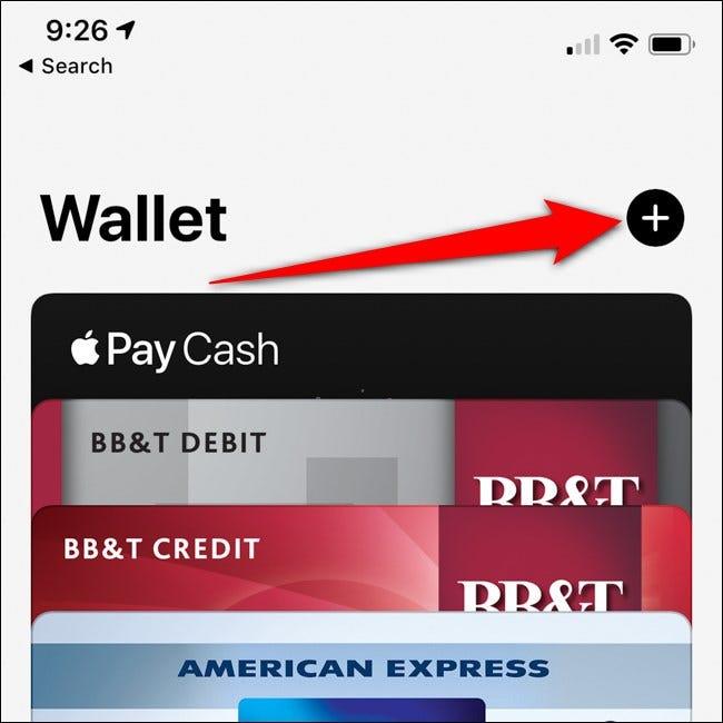 iPhone Apple Wallet Kartenschaltfläche hinzufügen