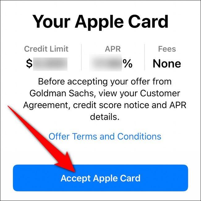 iPhone Geldbörse Apple Card akzeptieren