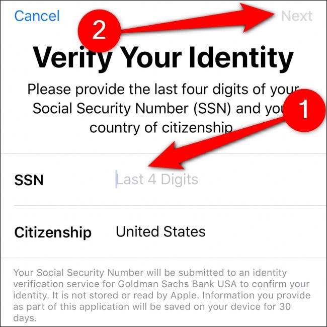 iPhone Wallet Überprüfen Sie Ihre Identität
