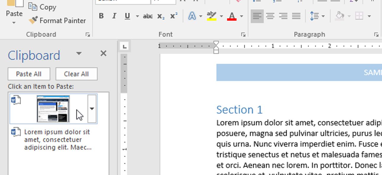 So verwenden Sie die integrierte Zwischenablage von Microsoft Office