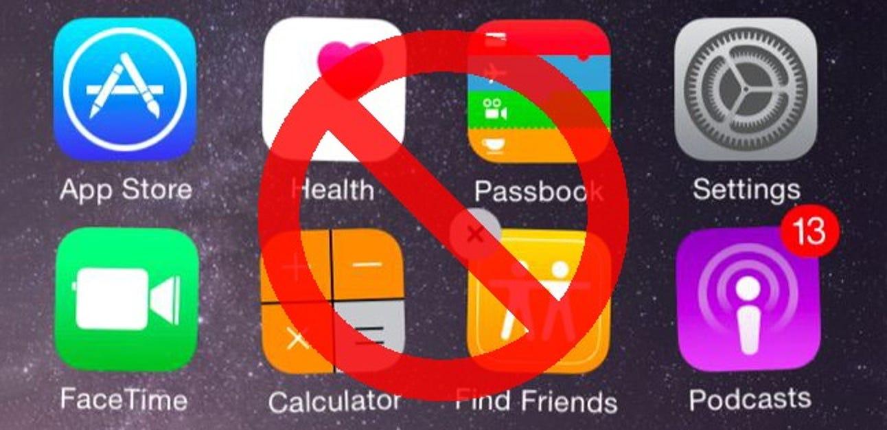 So verstecken Sie die integrierten Apps von iOS in iOS 9 und früheren Versionen