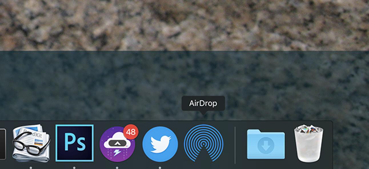 So fügen Sie Ihrem macOS Dock ein AirDrop-Symbol hinzu