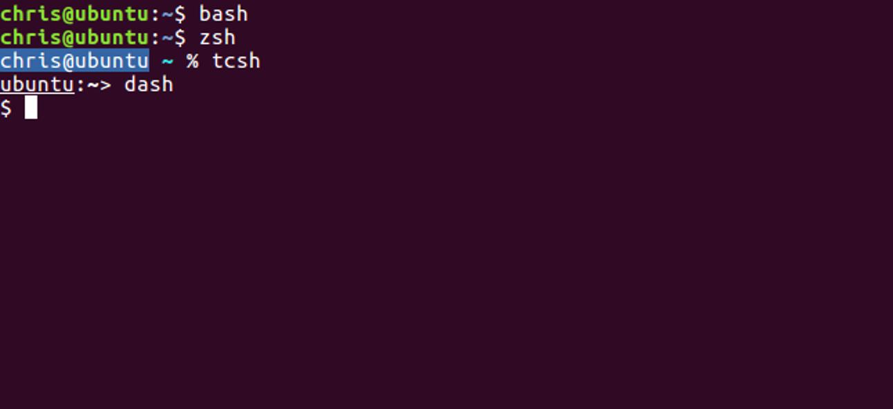 Was ist der Unterschied zwischen Bash-, Zsh- und anderen Linux-Shells?