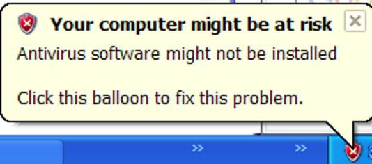 """Deaktivieren Sie das Popup """"Ihr Computer ist möglicherweise gefährdet"""" in Windows XP SP2"""