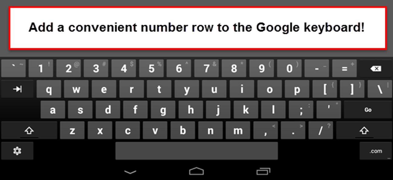 So fügen Sie der Google-Tastatur in Android eine dedizierte Nummernzeile hinzu