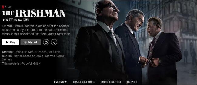 Der Ire auf Netflix