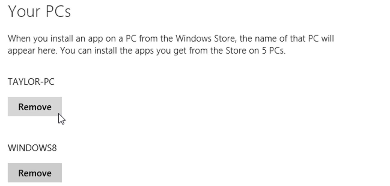 So entfernen Sie autorisierte PCs aus Ihrem Windows Store-Konto