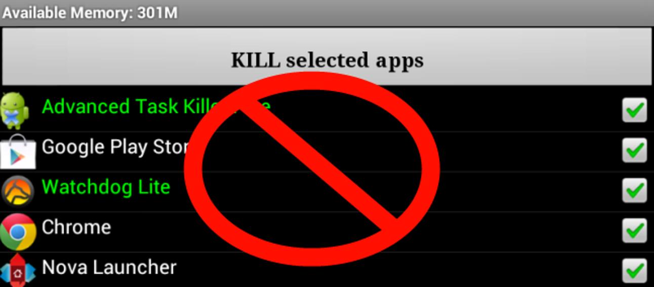 Warum Sie keinen Task Killer unter Android verwenden sollten