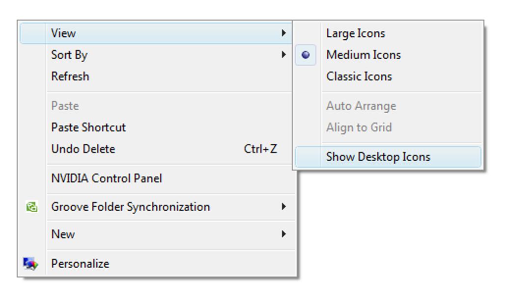 Erstellen Sie eine Tastaturkürzel, um auf versteckte Desktopsymbole und -dateien zuzugreifen