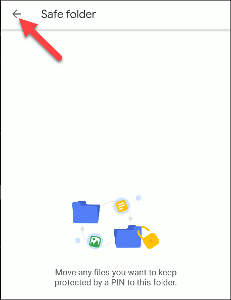 Dateien von Google Safe Ordner