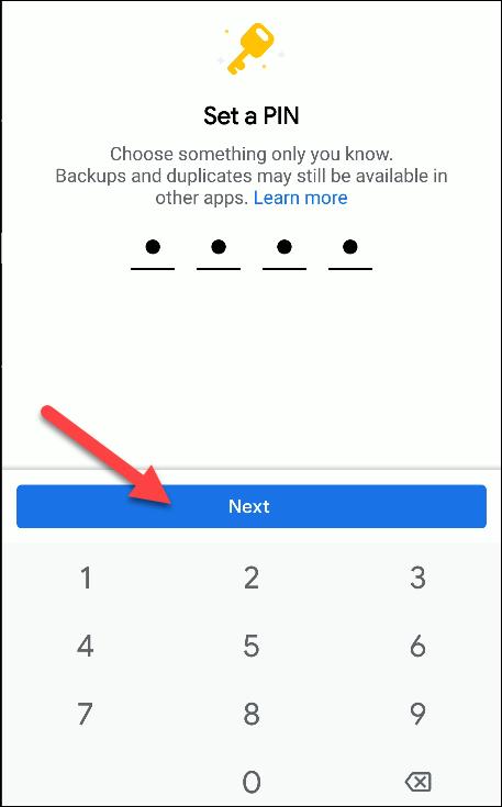 Dateien von Google Set Pin
