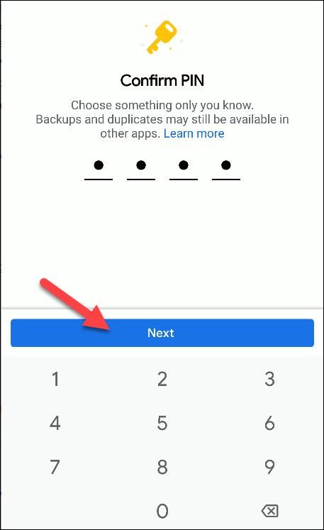 Dateien von Google bestätigen Pin