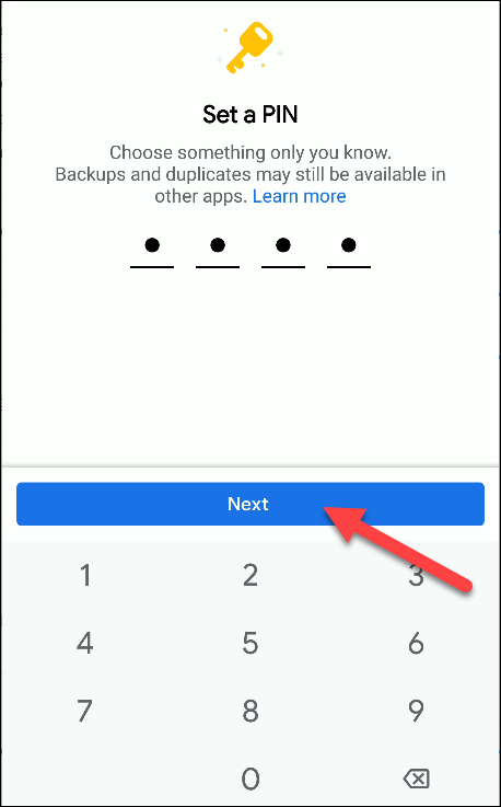 Dateien von Google setzen neue PIN