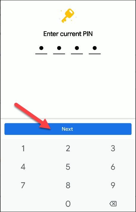 Dateien von Google Change Pin
