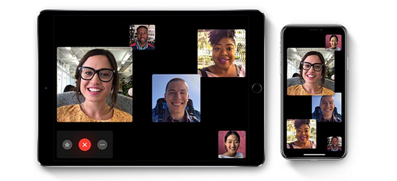 Verwendung von Group FaceTime auf dem iPhone und iPad