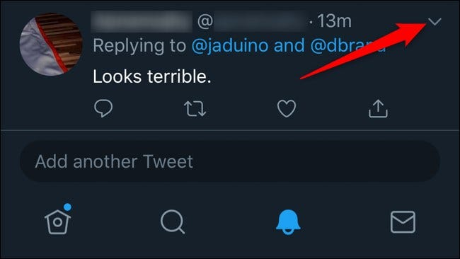 Twitter Mobile Antworten ausblenden Klicken Sie auf den Abwärtspfeil