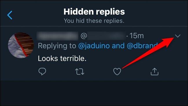 Twitter Mobile Antworten einblenden Klicken Sie auf den Abwärtspfeil