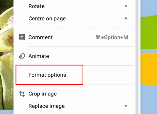 """Um auf das Bildformatierungsmenü zuzugreifen, klicken Sie mit der rechten Maustaste auf ein Bild und klicken Sie auf Formatoptionen oder klicken Sie in der Menüleiste auf Format> Formatoptionen"""" width=""""650″ height=""""473″ onload=""""pagespeed.lazyLoadImages.loadIfVisibleAndMaybeBeacon(this);"""" onerror=""""this.onerror=null;pagespeed.lazyLoadImages.loadIfVisibleAndMaybeBeacon(this);""""/></p> <p>Dadurch werden die Bildformatierungsoptionen auf der rechten Seite angezeigt.  Klicken Sie auf die Unterkategorie """"Neu einfärben"""", um das Bild neu einzufärben.</p> <p>Standardmäßig ist das Dropdown-Menü auf die Option """"Keine Neufärbung"""" eingestellt.  Klicken Sie auf das Dropdown-Menü und wählen Sie dann einen der visuellen Filter aus, um ihn auf Ihr Bild anzuwenden.</p> <p><img class="""