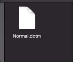 Die Datei Normal.dotm auf einem Mac.