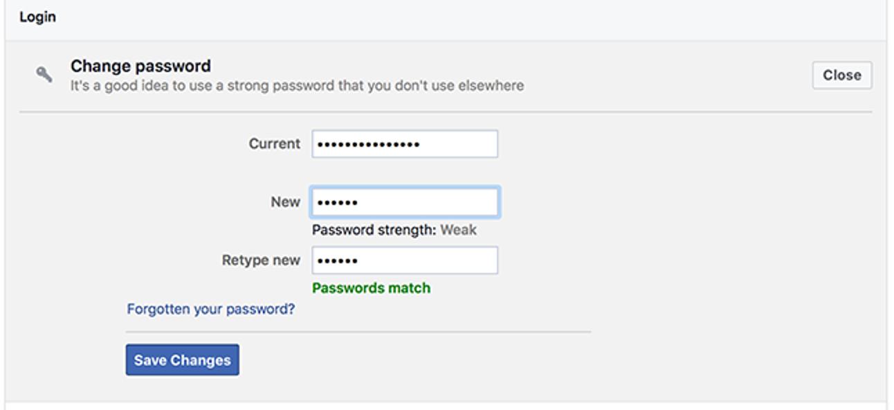 So ändern Sie Ihr Facebook-Passwort