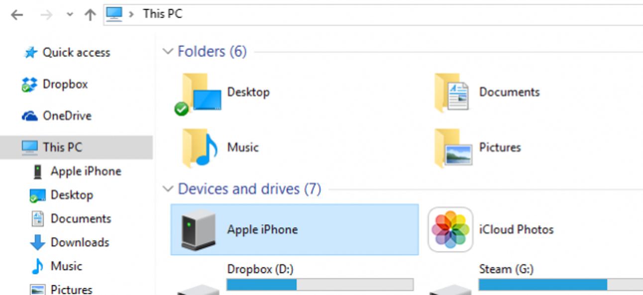 So importieren Sie Fotos und Videos manuell von einem iPhone oder iPad in Windows