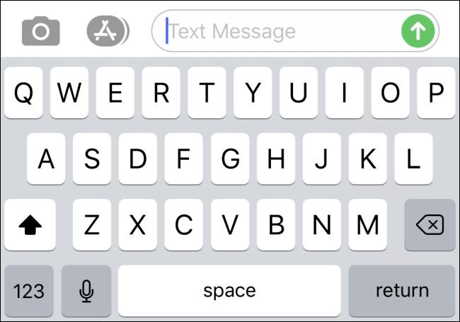 Eine iPhone-Bildschirmtastatur ohne Emoji-Taste