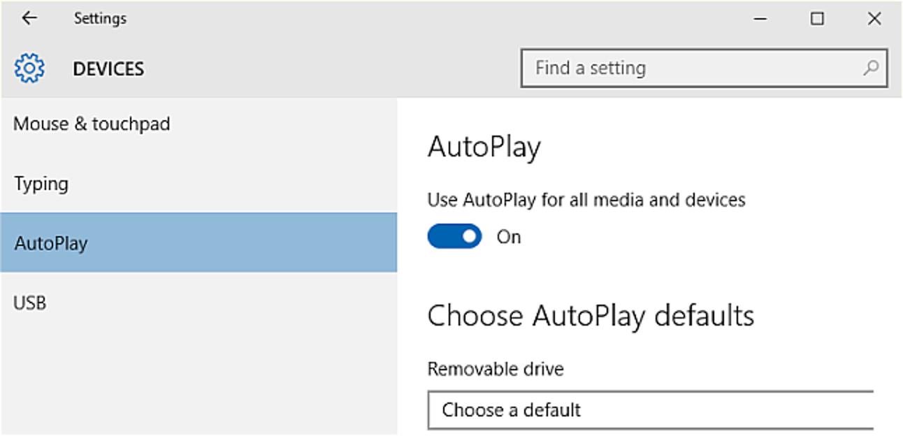 Aktivieren, Deaktivieren und Anpassen der automatischen Wiedergabe in Windows 10