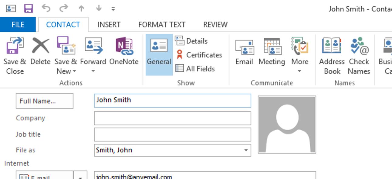 So öffnen Sie das Fenster zur vollständigen Kontaktbearbeitung in Outlook 2013