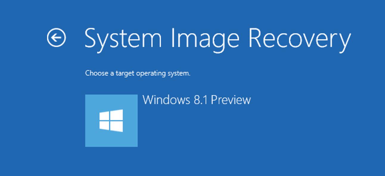 Erstellen und Wiederherstellen von Systemabbildsicherungen unter Windows 8.1