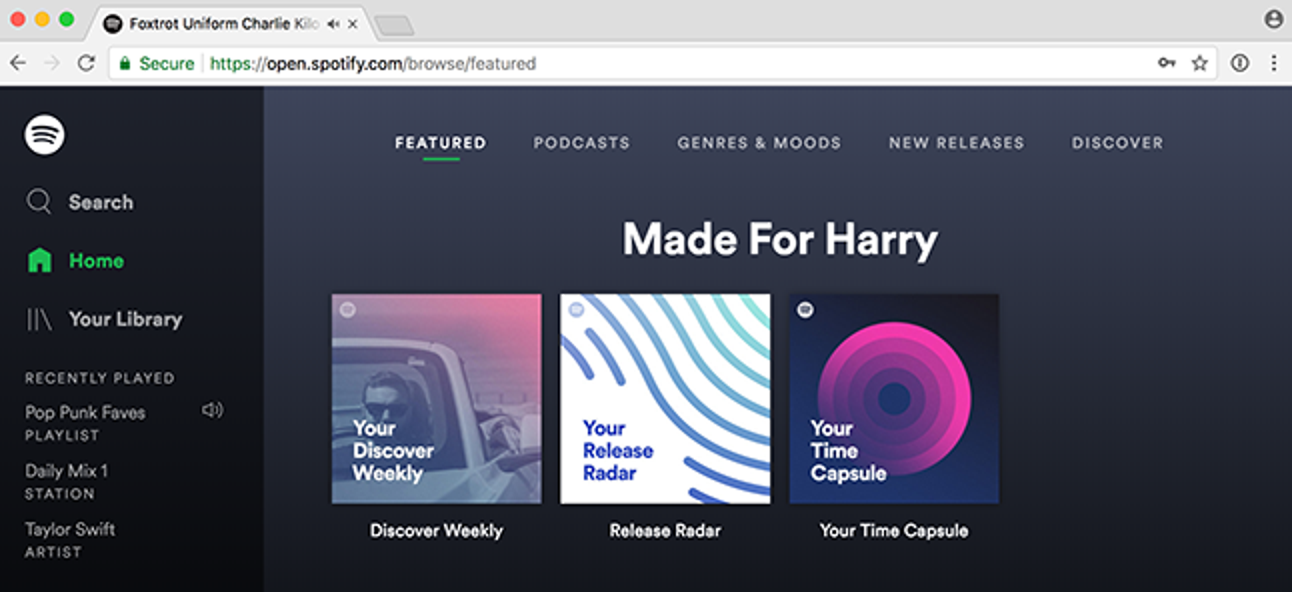 So hören Sie Spotify nur mit Ihrem Webbrowser