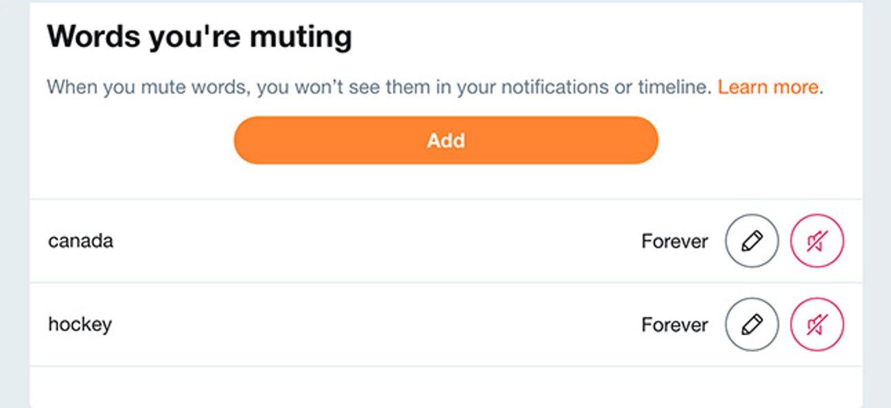 So schalten Sie Tweets mit bestimmten Wörtern auf Twitter stumm