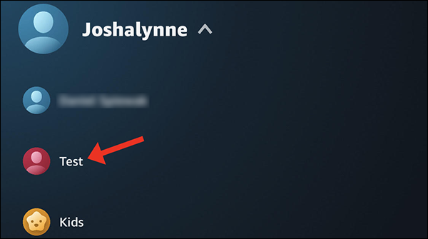 Tippen Sie auf den Profilnamen, um dorthin zu wechseln.