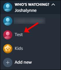 Klicken Sie auf das neue Konto, um zu diesem zu wechseln.