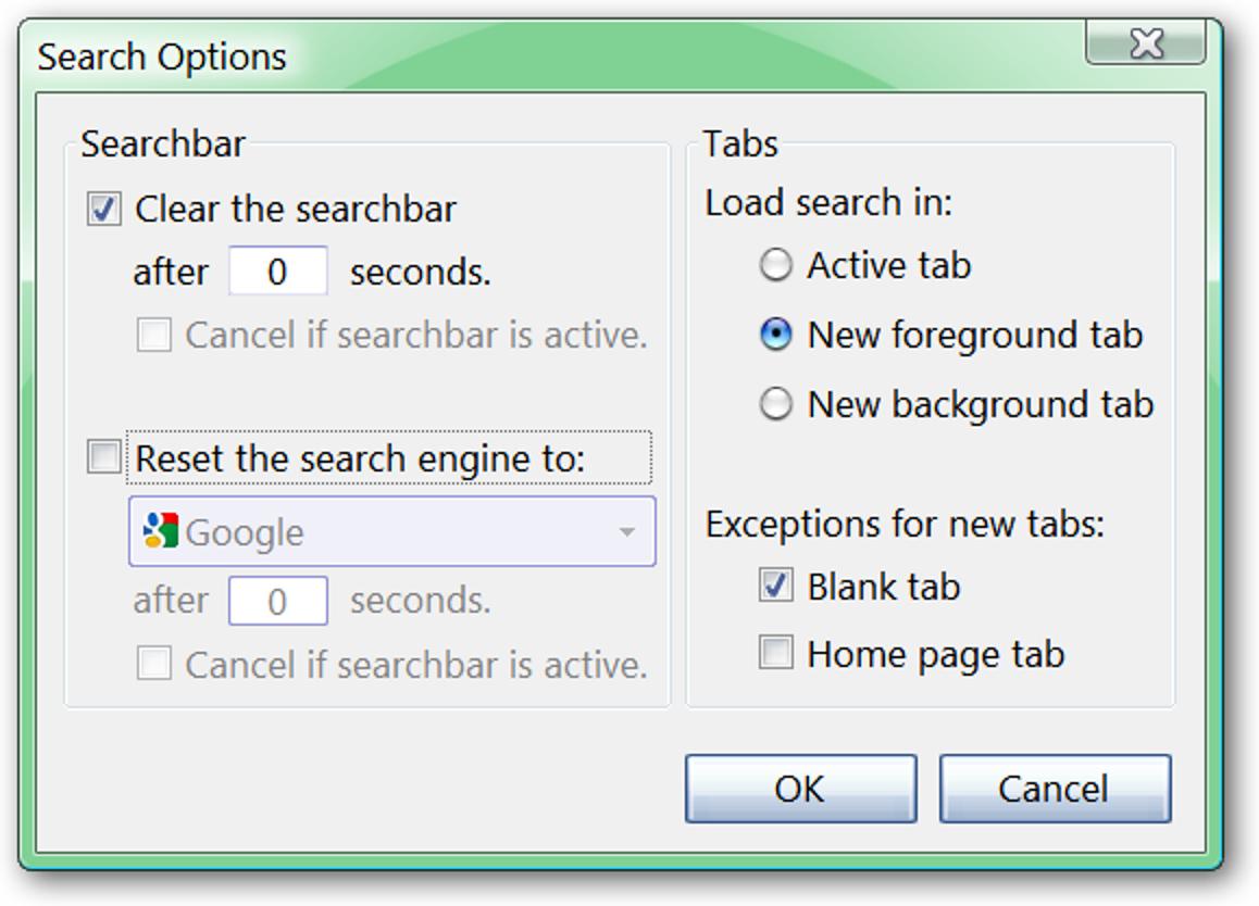 Ändern Sie das Verhalten der Suchleiste von Firefox mit den SearchLoad-Optionen