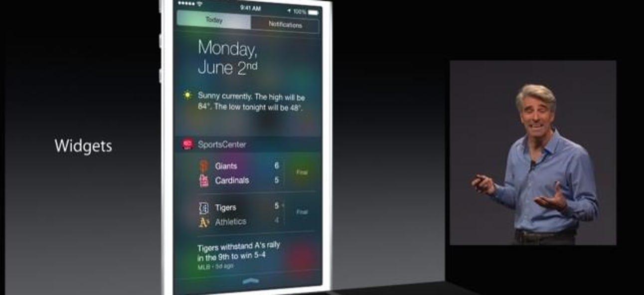 So verwenden Sie Widgets auf einem iPhone oder iPad mit iOS 8
