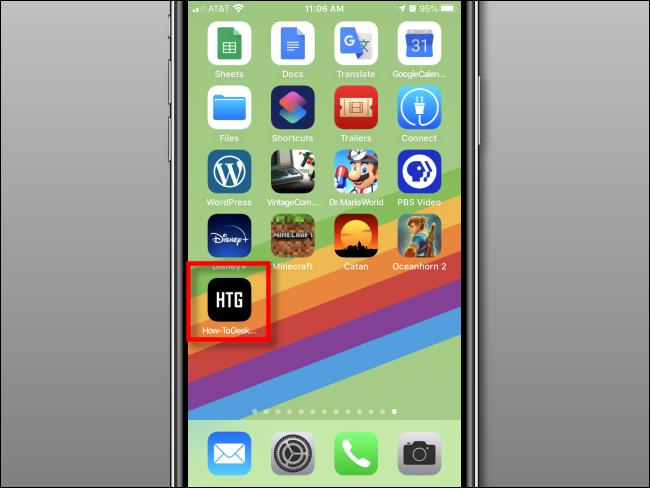 Web-Verknüpfung zum Startbildschirm auf dem iPhone hinzugefügt