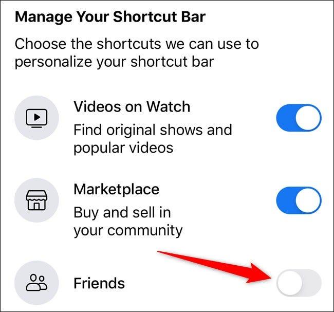 Apple iPhone Facebook App Wählen Sie neben der entsprechenden Registerkarte umschalten